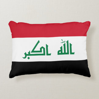 Iraq Flag Decorative Cushion