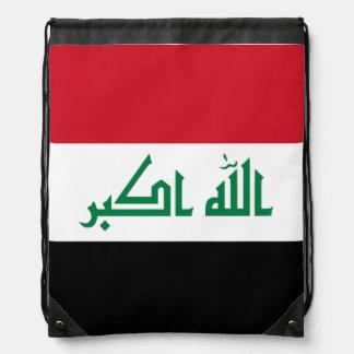 Iraq Flag Drawstring Bag