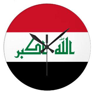 Iraq Flag Large Clock