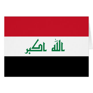 Iraq Flag Note Card