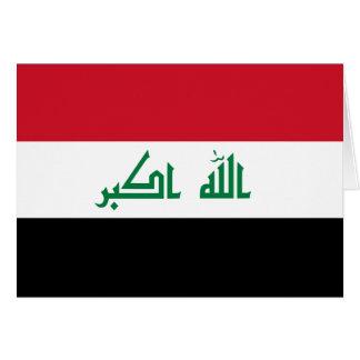 Iraq Flag Note Card