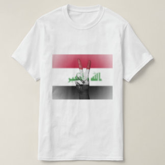 Iraq Flag Peace Sign - Patriotic T-Shirt