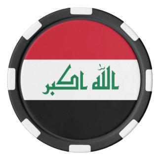 Iraq Flag Poker Chips Set