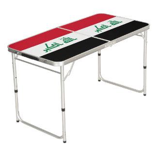 Iraq Flag Pong Table