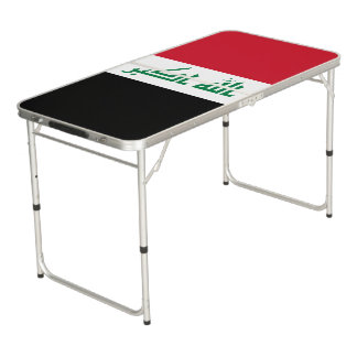 Iraq Flag Pong Table