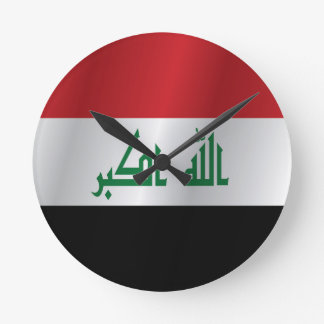 Iraq flag round clock