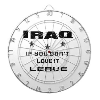 Iraq  If you don't love it, Leave Dartboard With Darts