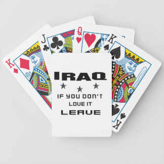 Iraq  If you don't love it, Leave Poker Deck