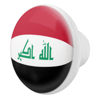 Iraq Iraqi Flag Ceramic Knob