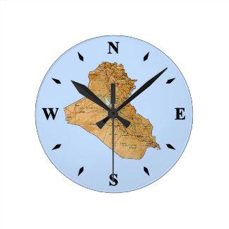 Iraq Map Clock