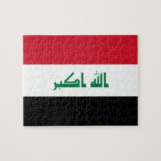 Iraq National World Flag Jigsaw Puzzle