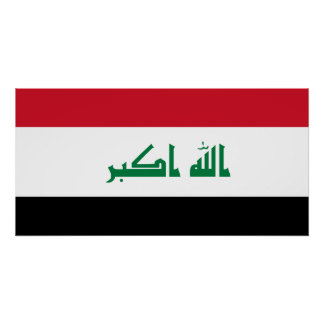 Iraq National World Flag Poster