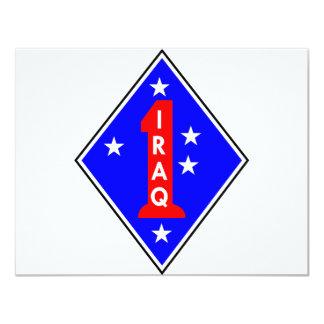Iraq Patch #1 11 Cm X 14 Cm Invitation Card