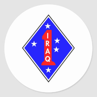 Iraq Patch #1 Round Sticker