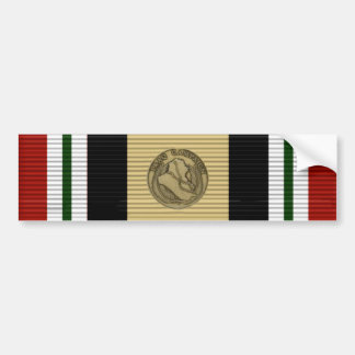Iraq ribbon bumper sticker