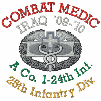 Iraq Unit Combat Medic Shirt Embroidered Shirt