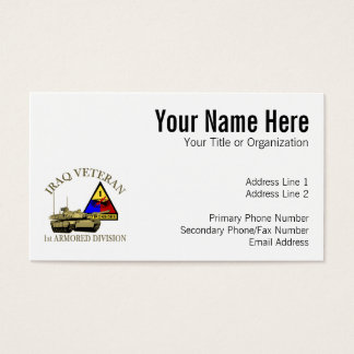 Iraq Vet - 1st AD Business Card