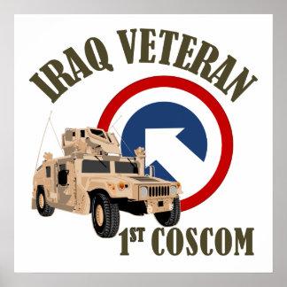 Iraq Veteran - 1st COSCOM Poster