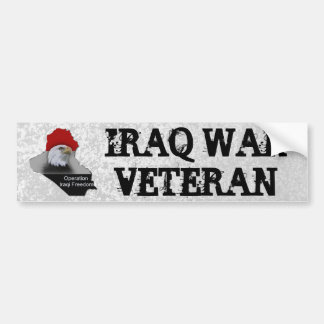 Iraq War Veteran Military Veteran Bumper Sticker
