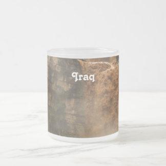 Iraq Waterfall Frosted Glass Mug