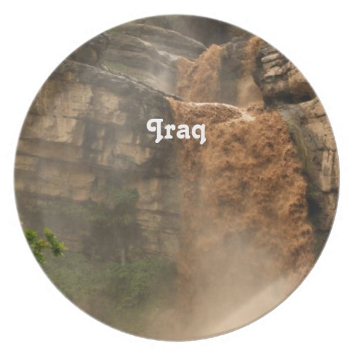 Iraq Waterfall Party Plate