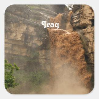 Iraq Waterfall Square Sticker
