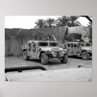 Iraqi army Humvee (M-1151) Poster