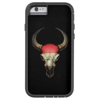 Iraqi Flag Bull Skull on Black Tough Xtreme iPhone 6 Case