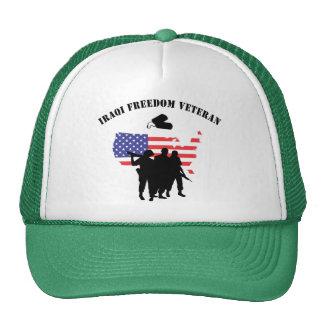 Iraqi Freedom Veteran T-Shirt Trucker Hats