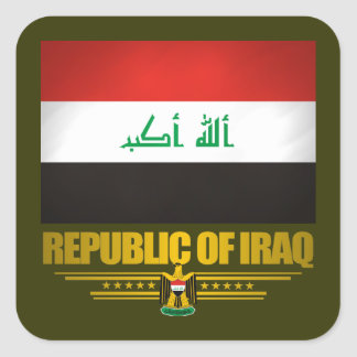 """""""Iraqi Pride"""" Square Sticker"""