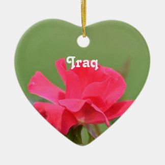 Iraqi Rose Christmas Ornaments