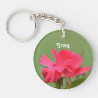 Iraqi Rose Single-Sided Round Acrylic Key Ring