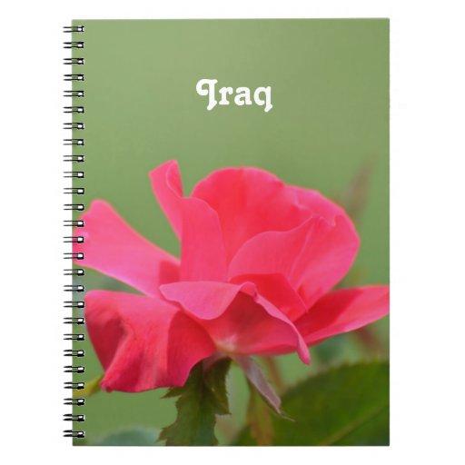 Iraqi Rose Notebook