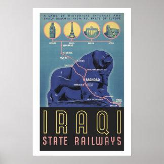 Iraqi State Railways Poster
