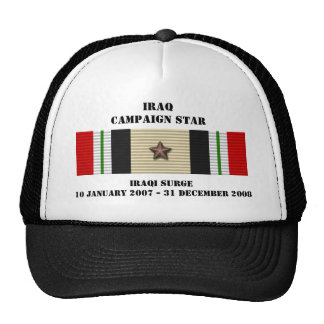 Iraqi Surge Campaign Star Cap