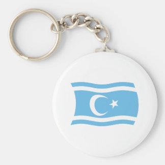 Iraqi Turkmen Flag Keychain
