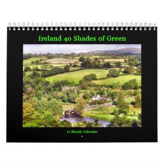Ireland 40 Shades of Green Calendar