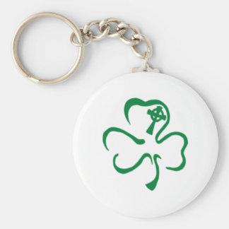 ireland basic round button key ring