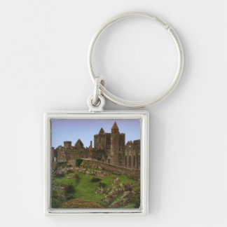 Ireland, Cashel. Ruins of the Rock of Cashel 2 Silver-Colored Square Key Ring