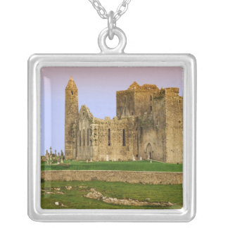 Ireland, Cashel. Ruins of the Rock of Cashel Square Pendant Necklace