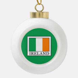 Ireland Ceramic Ball Christmas Ornament