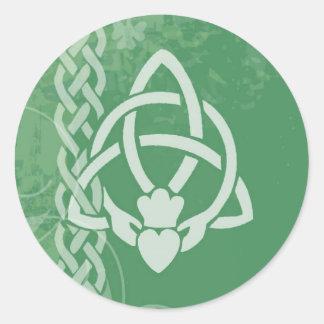 Ireland Claddagh Classic Round Sticker