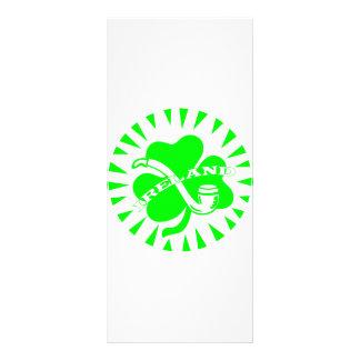 Ireland Clover w/ Pipe Custom Rack Cards