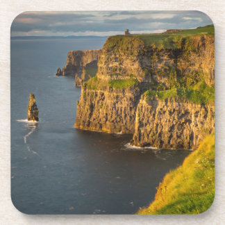 Ireland coastline at sunset drink coaster