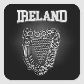 Ireland Coat of Arms Square Sticker