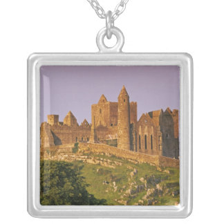 Ireland, County Tipperary. View of the Rock of 2 Square Pendant Necklace