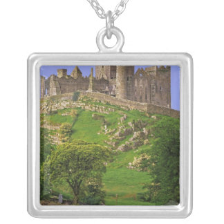 Ireland, County Tipperary. View of the Rock of Square Pendant Necklace