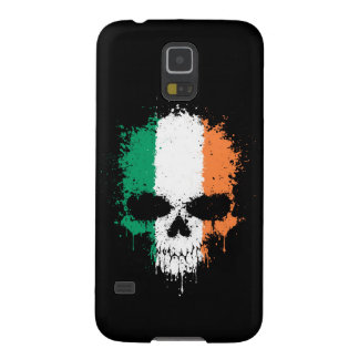 Ireland Dripping Splatter Skull Galaxy S5 Cases