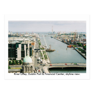 Ireland, Dublin Port & Financial Centre skyline Postcard