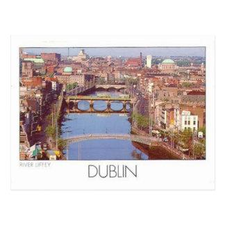 Ireland Dublin River Liffey (St.K.) Postcard